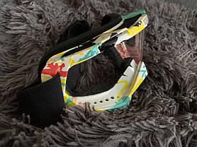 Яркая сноуборд лыжная Маска очки под шлем мото вело, фото 3