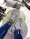 Жіночі демісезонні черевики сірі з натуральної замші, фото 4