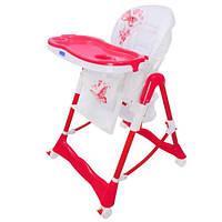 Детский стульчик для кормления RT-002-1-8 розово-белый