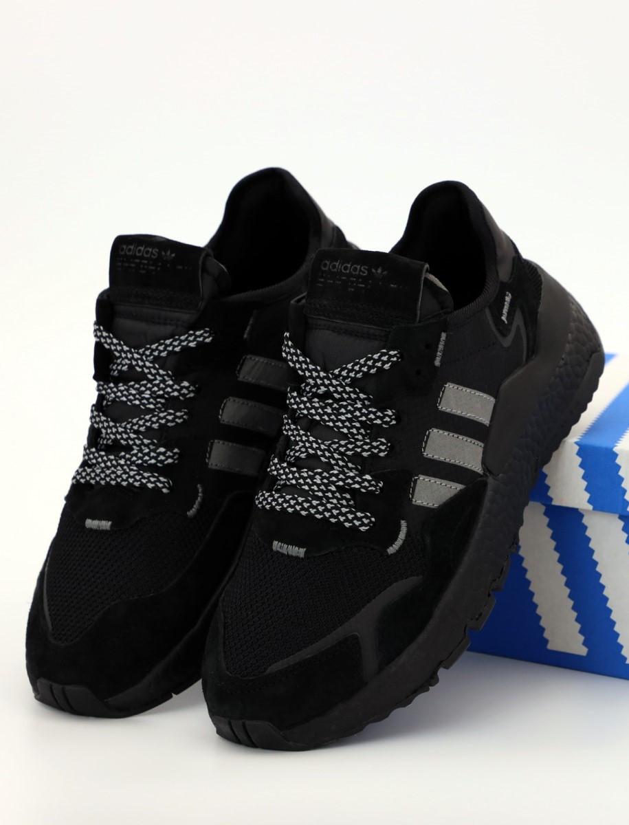 Мужские кроссовки Adidas Nite Jogger Black (Адидас Найт Джоггер)