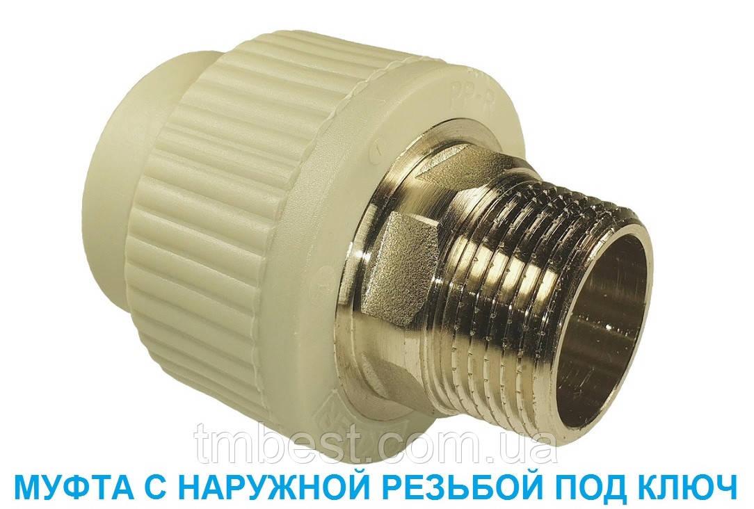 """Муфта полипропиленовая 50*1-1/2""""Н МРН"""