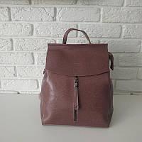 """Женский кожаный рюкзак, сумка для формата А4 """"Алиса Pink"""", фото 1"""