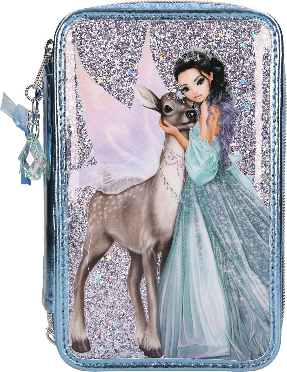 ТОР Model великий наповнений пенал IcePrincess ( Тройной пенал с наполнением ТОП Модел Ледяная принцесса )
