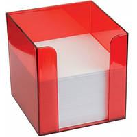 Подставка под бумагу для заметок Economix 90 * 90 * 90, красная