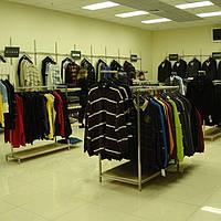 Торговое оборудование для магазина брендовой одежды на заказ