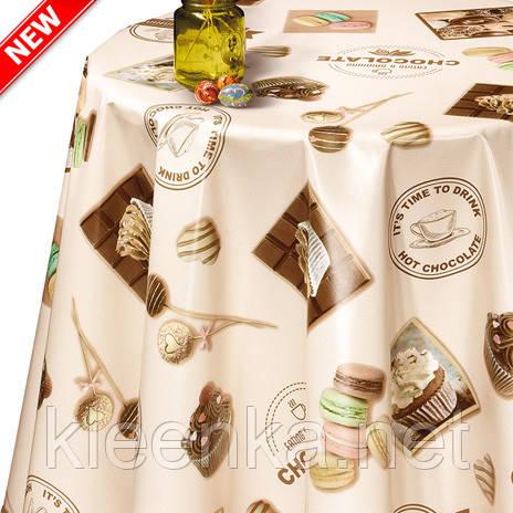 Скатерть-клеенчатая на стол с оригинальным рисунком Сладостей