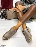 Жіночі демісезонні черевики - лофери Лоро, натуральна шкіра і замш, фото 5