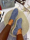 Жіночі демісезонні черевики - лофери Лоро, натуральна шкіра і замш, фото 7