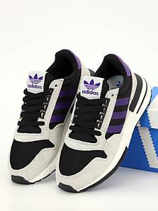 Женские кроссовки Adidas zx 500 RM Grey (Адидас ЗХ 500)