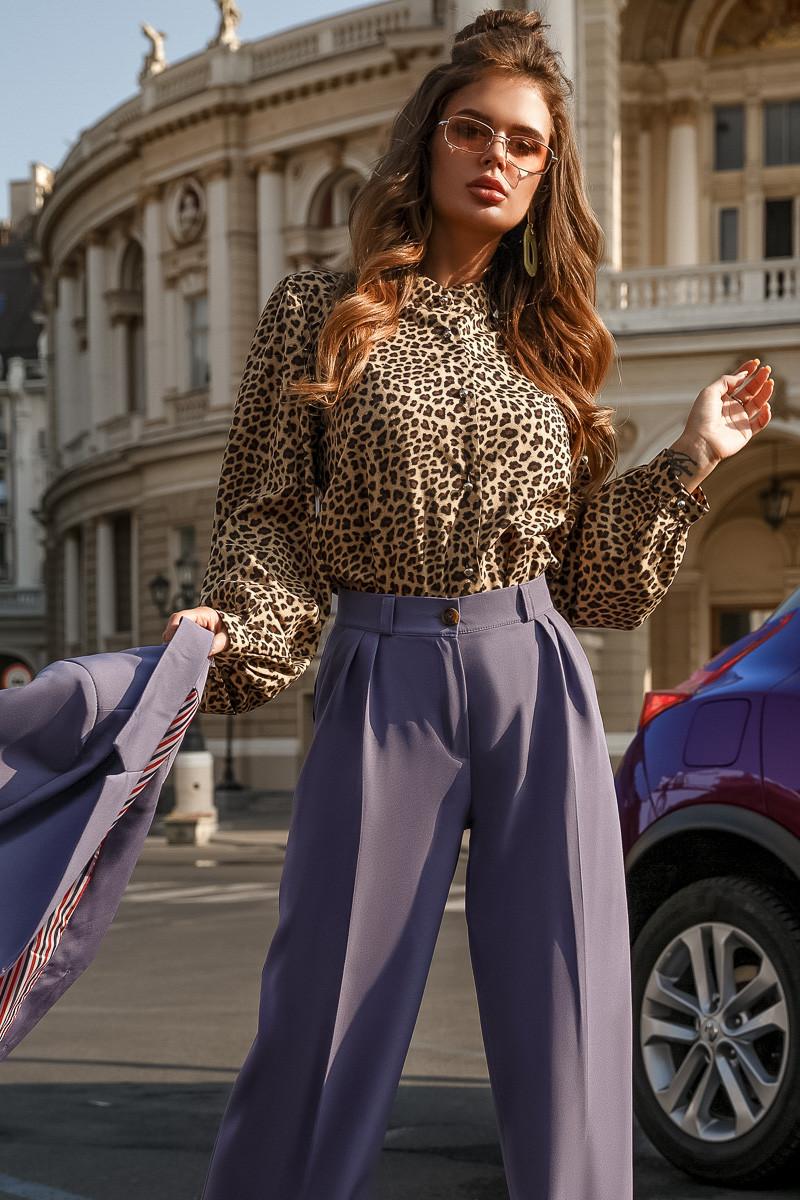 Блузка леопардовая, софт