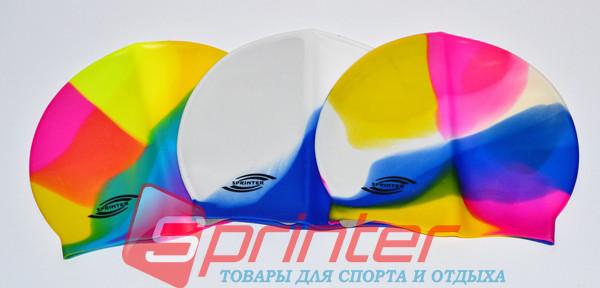 Шапочка для плавания силикон SPRINTER радужная.SB