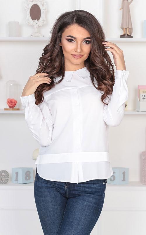 Блузка белая, софт