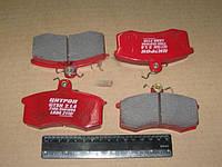 Колодки гальмівні ВАЗ 2108, 2109, 2113, 2114, 2115 передні безазбестові покр. (комплект-4шт.) (Цитрон).