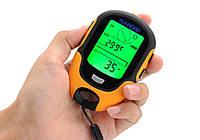 Метеостанция портативная Sunroad FR500 (7 в 1): альтиметр, барометр, компас, гигрометр, термометр, часы, фото 1