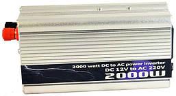 Преобразователь 12v-220v 2000W (рабочая 2000w, пиковая 2500w) Инвертор