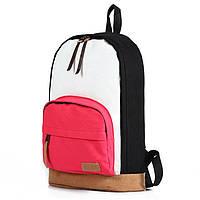"""Стильный Молодежный рюкзак """"Триколор"""", чёрный+красный, высококачественный,  фабричный!"""