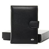 Мужское кожаное портмоне DR. BOND M25-1  black.Мужские портмоне оптом и в розницу., фото 1