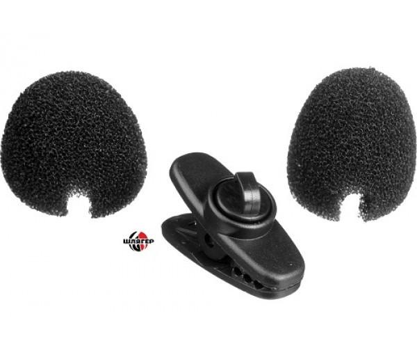SHURE RK322 Ветрозащита черного цвета + клипса-зажим для петличный микрофон