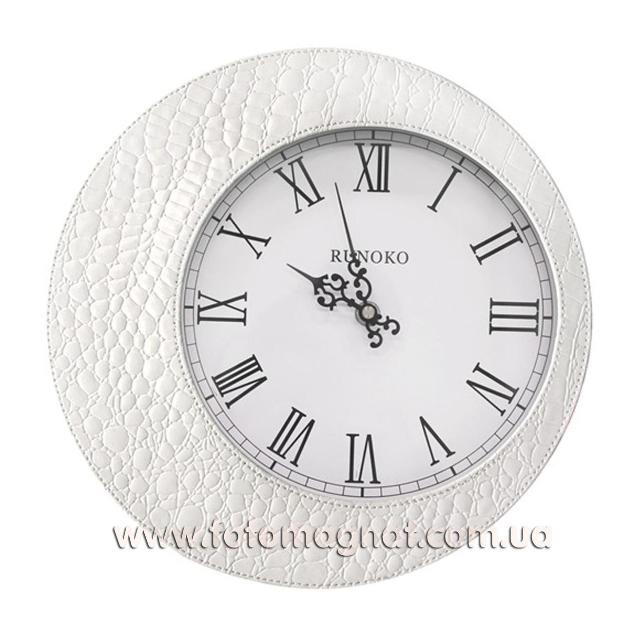 """Часы для интерьера, настенные """"Белые"""" 30см."""