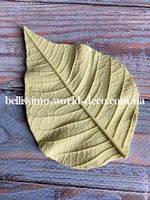 Молд лист Пуансетии  реалистичный, 10смх6,5см.
