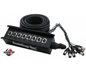 ROCKCABLE RCL30900 Мультикор 8 XLR-f - XLR-m, 15м