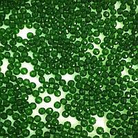 Рондели 4х3 мм (стекло). Зеленый прозрачный. 100 шт.