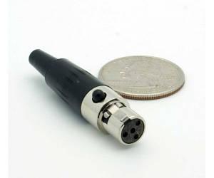 JTS Mini XLR Разъем Mini XLR гнездовой, 4-контактный