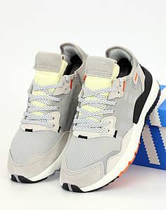 Мужские кроссовки Adidas Nite Jogger Grey (Адидас Найт Джоггер) рефлективные