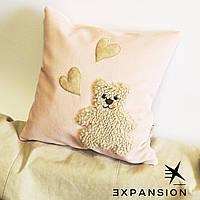 Подарок девушке на 8 Марта, декоративная подушка Teddy-Love, ручная работа.