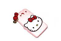 Резиновый 3D чехол для Xiaomi Redmi 2 Hello Kitty