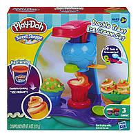 Пластилин Плей До Сладкая фабрика мороженого A4896 Play-Doh Sweet Shoppe Double Treat Ice Cream
