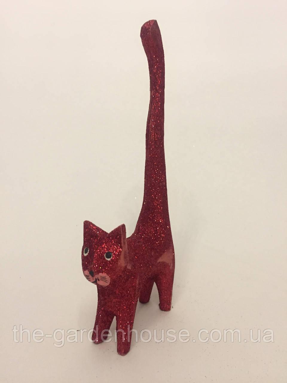 """Фигурка кота """"Хвост вверх"""" (красный), 20 см"""