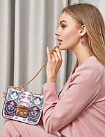 Сумка с ярким рисунком. Женская сумка. Женские аксессуары РАЗНЫЕ ЦВЕТА
