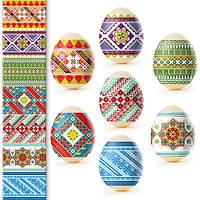 Термонаклейка на яйца, наклейки для пасхальных яиц Традиционные