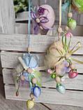 """Пасхальные яйца """"Веселка"""", Н-6-7см, 50/40 (цена за 1 яйцо плюс 10 грн), для корзины, дома, фото 2"""