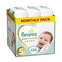 Подгузник Pampers Premium Care Junior Размер 5 (11-16 кг), 136 шт (8001090959690)