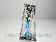 Косметичка прямоугольная  прозрачная силиконовая купить оптом, фото 3