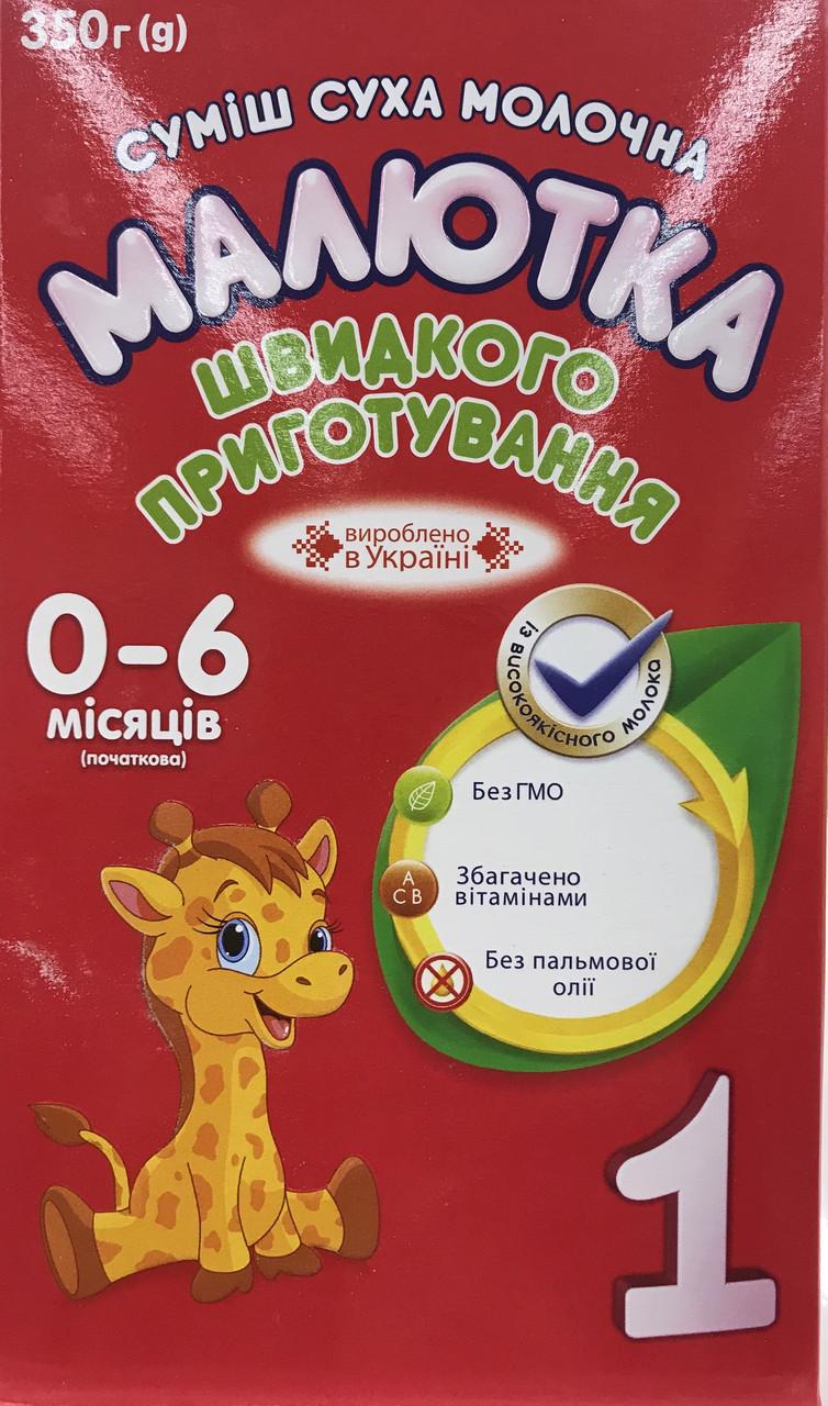 """Молочная сухая смесь с рождения """"Малютка-1"""" (350гр.)"""