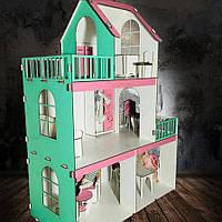 """Домик для кукол  """"Особняк для Барби"""" 3 этажа + мебель в подарок"""