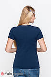 Базовая футболка для беременных и кормящих из трикотажа MARGO NR-10.011, фото 2
