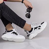 Женские  белые кроссовки Lonza FLM90122 WHITE/BLACK ВЕСНА 2020 /// FA90122 white black, фото 1