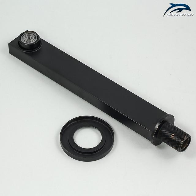 Смеситель для раковины SGRB-03 скрытого монтажа с изливом прямоугольной формы.