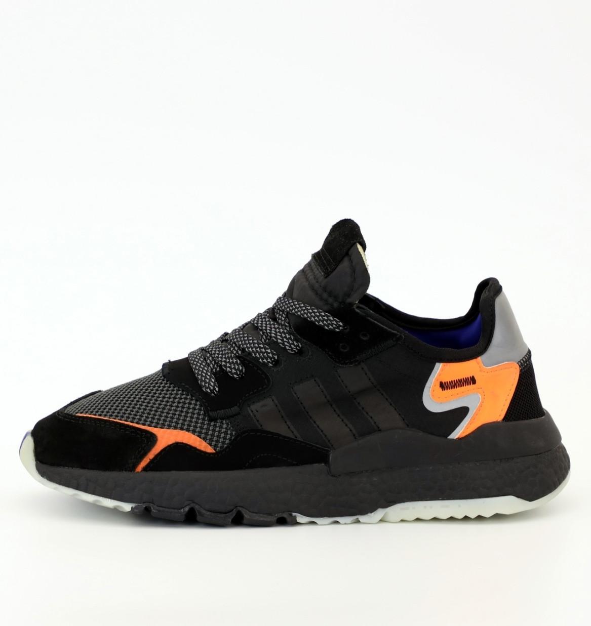 Мужские Кроссовки Adidas Nite Jogger Black (Адидас Найт Джоггер) рефлективные