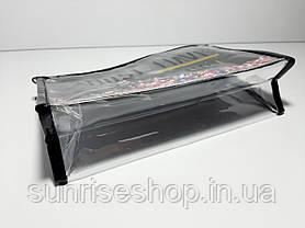 Косметичка прямоугольная  прозрачная силиконовая купить оптом, фото 2