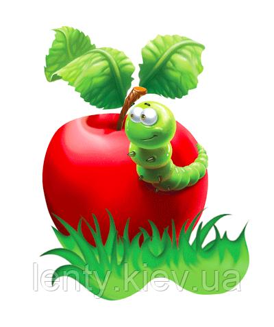 "Вырубка малая ""Голодная гусеница"" 14х19 см"