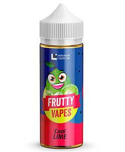 Frutty Vapes 120 мл Премиум Жидкость для Электронных Сигарет Cool Lime, 0 мг