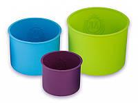 Набор силиконовых форм для куличей, пасхи из 3 штук.