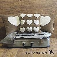 """Оригинальный подарок - декоративная подушка """"С любовью"""", ручная работа."""