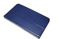 Кожаный чехол книжка для Lenovo TAB 2 A7-30 синий