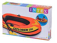 Лодка надувная с веслами и насосом Intex 58331 EXPLORER, размер 185х94х41см, фото 1